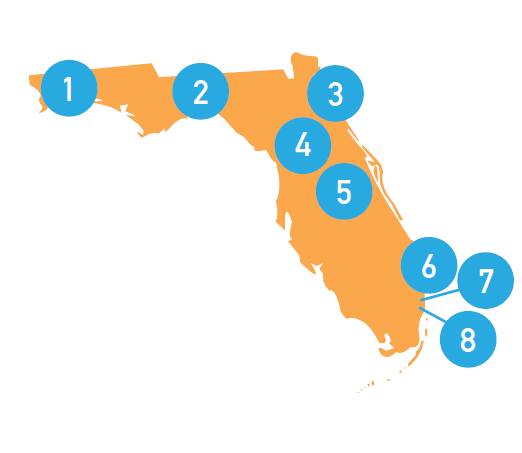 florida fiec dots map